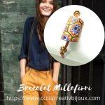 bracelet perle millefiori