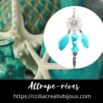 attrape-rêves turquoise
