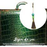 bijou de sac malachite