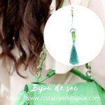 bijou de sac vert eau