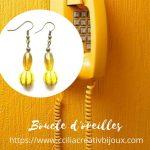 boucles d'oreilles jaune