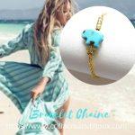 bracelet éléphant turquoise