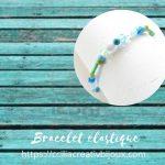 bracelet à perles rocailles