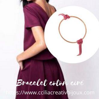 bracelet anneau cuivre