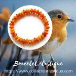 bracelet boulier orange
