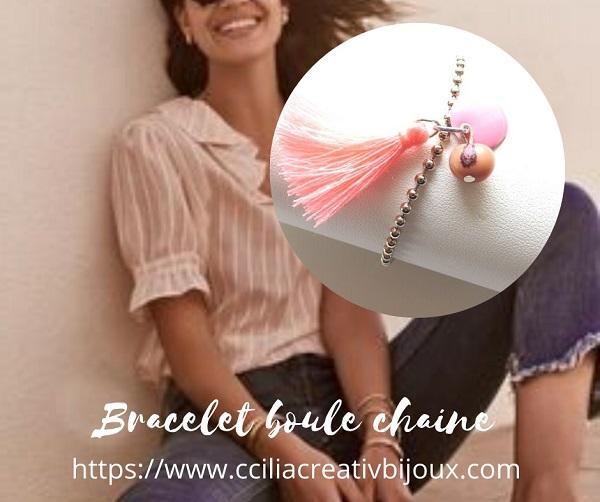 bracelet chaine boule tagua