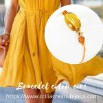 bracelet coton ciré