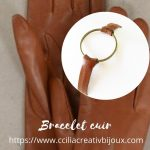 bracelet cuir anneau bronze