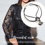 bracelet cuir chat