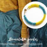 bracelet jonc perles de rocailles