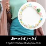 bracelet perles pastel