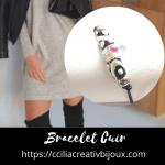 bracelet cuir perle en verre