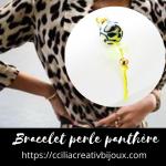 bracelet perle panthère