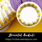 bracelet perles acidulées