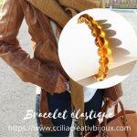 bracelet perles fauve