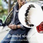 bracelet perles jaspe gris