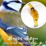 bracelet perles jaune