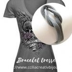 bracelet tressé nœud plat
