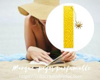 marque-pages soleil doré