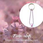porte-clefs rose