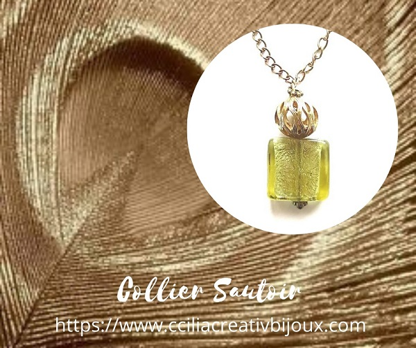 collier sautoir perle murano