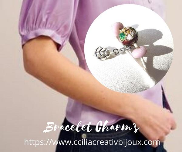 bracelet perle cloisonnée