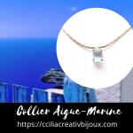 collier aigue-marine