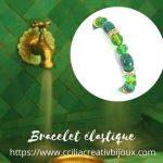 bracelet perles strass vert