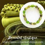 bracelet perles vertes
