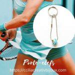 porte-clefs turquoise