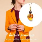 collier coeur ocre