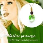 collier cœur vert