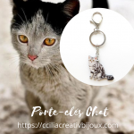 porte-cles chat
